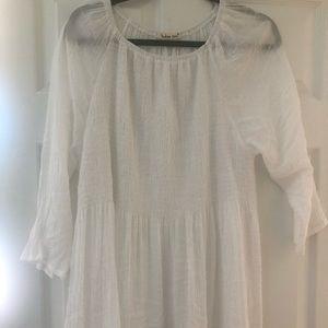 Crinkly White Summer Shirt 2x Indigo Soul